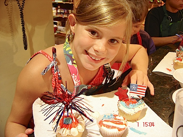 patriotic cupcakes