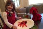 Allison with Clifford for Edible Book Parade
