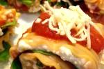 lasagna rolls, plated